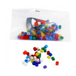 Bagues ouvertes de couleur plastique diamètre 3 mm