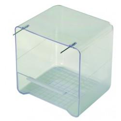 Baignoire avec perchoir transparente